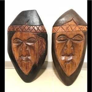 Antique First Nations carvings